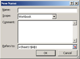 Excel 2007 New Name